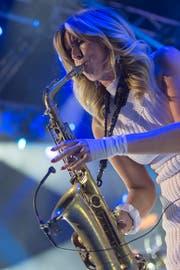 Das Saxophon blieb im Koffer: Candy Dulfer konnte nicht in Romanshorn auftreten. (Bild: GEORGIOS KEFALAS (KEYSTONE))