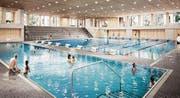 Das geplante 33,3 mal 25 Meter grosse Becken kann durch eine Hubwand aufgeteilt werden. (Bild: PD/Stadt Kreuzlingen)