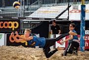 Grabser Beachvolleyball-Junioren auf dem Podest (Bild: PD)