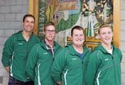 Die neuen Freimitglieder Michael Dütschler, René Gabathuler, David Forrer sowie das Neumitglied Samuel Eggenberger (von links). (Bild: PD)