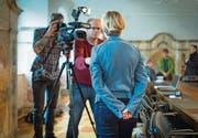 Früher im Hintergrund tätig, heute im Focus von Medien und Öffentlichkeit: SVP-Regierungskandidatin Esther Friedli. (Bild: Benjamin Manser)