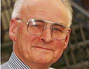 Peter Wegelin (Bild von 1998) Historiker, † 2016 (Bild: Ralph Ribi)