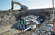 Geschäftsführer Christoph Heuberger sorgt dafür, dass die Baumaterialien in der Deponie nachhaltig entsorgt werden. (Bild: Maya Heizmann)