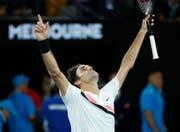 Sieg für Roger Federer am Australian Open in Melbourne. (Bild: MAST IRHAM (EPA))