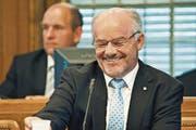 Ein lachender Finanzdirektor sei selten geworden, sagen einige Kantonsräte. (Bild: Martina Basista (Archiv))