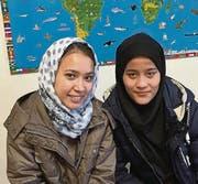 Fatima Raufi und Atosa Nazari kommen aus Afghanistan. (Bild: Karl Kohli)