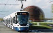 Tango-Tram der Verkehrsbetriebe Genf in Niederflurausführung. 2010 hat Genf 32 Stück bestellt. Bald fährt das Tram auch in Tschechien. (Bild: PD)