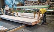 Blick in die Produktion der Holz Stürm AG in Goldach. (Bild: Ralph Ribi)