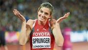 Die WM-Fünfte Lea Sprunger versinnbildlicht den Aufschwung der Schweizer Leichtathletik. (Bild: Freshfocus (London, 10. August 2017))