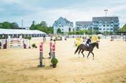 Der neue Sandplatz fand nicht nur bei den Reitern, sondern auch beim Publikum viel Lob. Die Sprünge waren vom Festzelt aus besser mitzuverfolgen. (Bilder: Andrea Stalder)