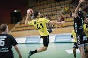Der Linkshänder Igor Milovic war mit fünf Treffern der erfolgreichste Torschütze St. Otmars im Spiel gegen Endingen. (Bild: Ralph Ribi)