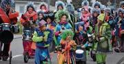 Bunte Kostüme, Musik und Konfetti: der Kindermaskenball zeigte sich abwechslungsreich. Rund 200 Teilnehmende waren dabei. (Bild: Monika Wick)