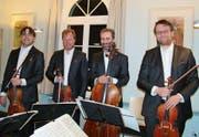 Das Prager Zemlinsky-Quartett begeisterte mit Delikatessen der tschechischen Musik. (Bild: Ferdinand Ortner)