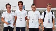 Die vier Schweizer Teilnehmer: Joel Vorburger (Uzwil, Kanti Wil), Sven Voigt (Bern, Gymnasium Neufeld), Timo Gimmi (Oberwangen, Kanti Wil) und Severin Spörri (Stein am Rhein, Kanti Burggraben, St. Gallen). (Bild: PD)