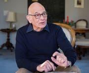 Literaturwissenschafter Johannes Anderegg. (Bild: Urs Bucher (8.12.2016))