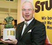 VR-Präsident Alfred Müller bei der Verleihung des Thurgauer Apfels 2017, des Motivationspreises der Thurgauer Wirtschaft. (Bild: Mario Gaccioli)