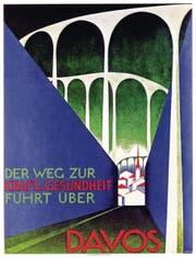 Otto Morach, Plakat für den Verkehrsverein Davos, 1926. (Bilder aus: Franco Item, Davos – zwischen Bergzauber und Zauberberg)