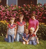 Die Guhl-Kinder: Andreas, Beat, Yvonne, Bernhard und Regula. (Bild: pd)