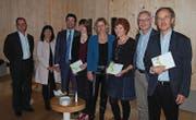 Hanspeter Blaser, Monika Bodenmann, Andrea Caroni, Marijke Meier, Katrin Alder, Monika Manser, Dölf Biasotto und Martin Grob. (Bild: PD)