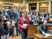 Edith Graf-Litscher hofft, 2019 im Nationalrat nicht mehr Stimmen zu zählen, sondern die Sitzungen leiten zu können. (Bild: Lukas Lehmann/key)