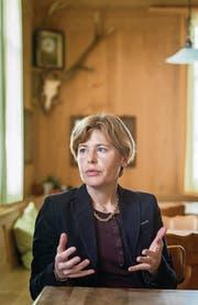 SVP-Regierungskandidatin Esther Friedli im «Haus zur Freiheit» in Ebnat-Kappel. (Bild: Michel Canonica)