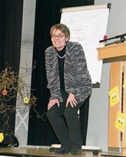 Beatrix Böni beeindruckte mit ihrem Engangement, dem überzeugenden Enthusiasmus und erheiternden Humor. (Bild: Heidy Beyeler)