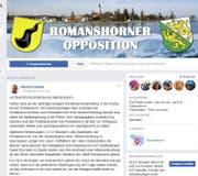 """In der Facebook-Gruppe """"Romanshorner Opposition"""" geht es deftig zu und her. (Bild: Screenshot Facebook)"""