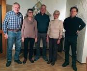 Sind zusammen 180 Jahre in der SP Grabs: Hans Lippuner, Trudi Belleville, Walter Geering, Ursula Hess, Philipp Schär (von links). (Bild: PD)