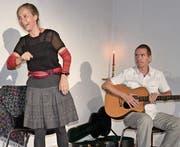 Caroline Capiaghi (Erzählerin) und Steffen Krausse (Musik) sorgten für einen ganz speziellen Dialog. (Bild: PD)