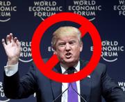 US-Präsident Donald Trump ist am WEF in Davos nicht willkommen. Eine Online-Petition will den geplanten Versuch verhindern. (Bild: Screenshot campax.org)