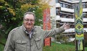 Christian Tröhler, Präsident des Quartiervereins Lindenhof, ist stolz auf die nahe Angliederung von Primar- und Oberstufenschulen sowie Berufsschule im Quartier. Er lebt seit mehr als 25 Jahren im Quartier Lindenhof. (Bild: Roland P. Poschung)