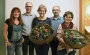 Geehrte des Photoklubs Hinterthurgau: Silvia Oberhänsli, Marcel Hugentobler, Gabriela Vetter, Roland Hagen und Jolanda Wick. (Bild: PD)