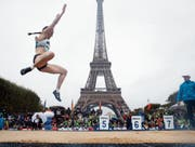 «Paris, je t'aime!» Ein Satz, den wohl viele Athleten in sieben Jahren an den Olympischen Sommerspielen sagen. (Bild: Thibault Camus/AP)