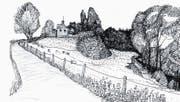 Eine Zeichnung des «Klein Rigi» von Günter Dittmann. (Bild: PD)