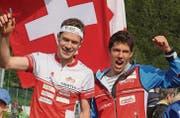 Daniel Hubmann wird ab Oktober dieses Jahres als Jungvater gegen seinen Bruder Martin laufen. (Bild: Urs Huwyler)