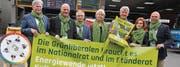 Nicht nur die Thurgauer Kandidaten, sondern auch die Zürcher GLP-Ständerätin Verena Diener (vierte von links) will sich dafür einsetzen, dass der Thurgauer GLP-Nationalratssitz erhalten bleibt. (Bild: Christof Lampart)