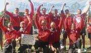 Die Jugendnationalmannschaft mit den zwei Mosnangern Marcel Breitenmoser und Adrian Schatt holte sich den Weltmeistertitel. (Bild: pd)