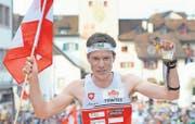 Auch wenn er sich über den verpassten Titel im EM-Sprint ärgert: Daniel Hubmann hatte in der vergangenen Saison allen Grund zum Jubeln. (Bild: ky/Georgios Kefalas)