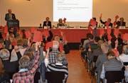 Bei den Abstimmungen über die Rechnung 2017 und das Budget 2018 herrscht bei den Ortsbürgern Einigkeit. (Bild: Gianni Amstutz)