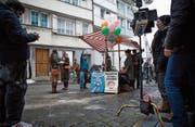 Dreharbeiten zu «Die göttliche Ordnung» in Herisau – auch dank gewichtiger SRG-Fördergelder. (Bild: Michaela Rohrer (Herisau, 16. März 2016))