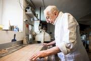 Ueli Berger Senior - alter Bäckermeister aus Salez. (Bild: Mareycke Frehner)