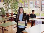 Schülerin Hau Truong ist die Chefin des Arbeitsamtes von Calimano.