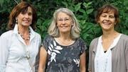 Gehen in Pension: Verena Zuberbühler, Gerda Kimoto und Elsbeth Blumer. (Bild: Markus Bösch)
