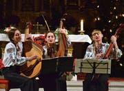 Das Beriska-Ensemble musiziert in der katholischen Kirche. (Bild: Christoph Heer)