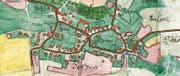 Der Zehntenplan mit den Strassenringen Oberneunforns aus dem Jahr 1687. (Bild: PD)