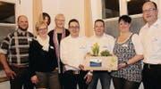 Der Vorstand Gewerbe Neckertal: Markus Zinniel (neu), Beatrice Müller, Judith Brägger (neu), Daniel Müller, Patrick Hartmann, Claudia Scherrer und Thomas Hablützel (von links). (Bild: Cecilia Hess-Lombriser)
