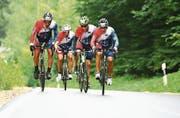 Die vier Fahrer: Sebastian Frenzel, Martin Oswald, Alexander Hobel und Rolf Hugentobler. (Bild: PD)
