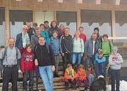 Gut gelaunte Schar auf dem Chäserrugg: Die IG Grabs veranstaltete einen Ausflug ins Toggenburg. (Bild: pd)