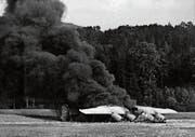 Motorenprobleme zwangen die Besatzung der Liberator II im August 1943 zur Notlandung in der Wiler Thurau.