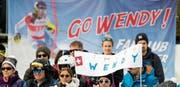 Trotz grossem Anhang, viel Unterstützung und dem Ausfall von Mikaela Shiffrin: Wendy Holdener reichte es in der Lenzerheide nicht zum ersten Weltcupsieg. (Bild: Jean-Christophe Bott/KEY)